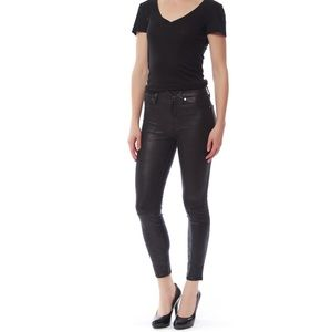 NWT 7 For All Mankind Black Lather pants xs